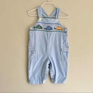 Carriage Boutiques Blue Corduroy Smocked Overalls